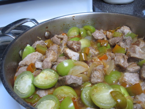 Braised Pork and Tomatillos