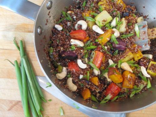 Red Quinoa Pilaf