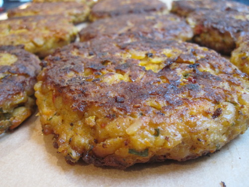 Tempeh and Cheddar Burgers