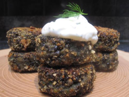 Black Lentil Cakes