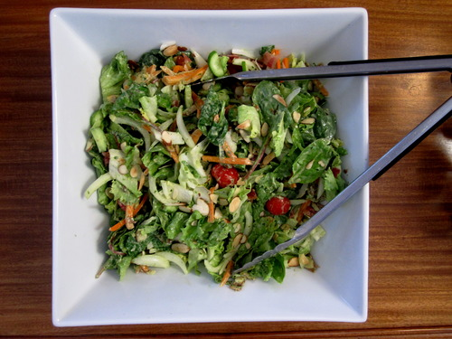 Garden Salad with Avocado Green Goddess Dressing